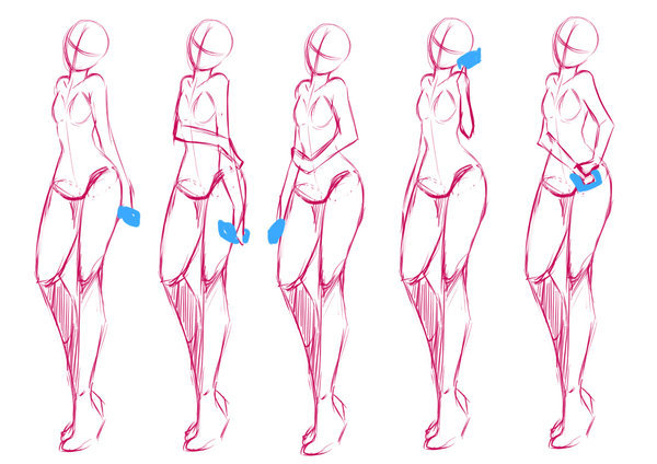 【推荐】漫画女生腿的画法—轻微课绘画教程区