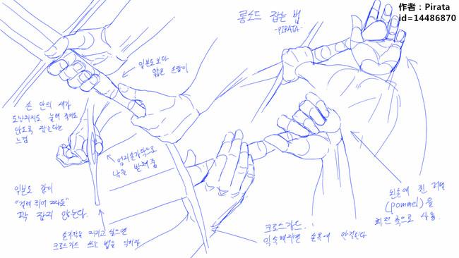 【推荐】动漫绘画教程图片—握刀姿势