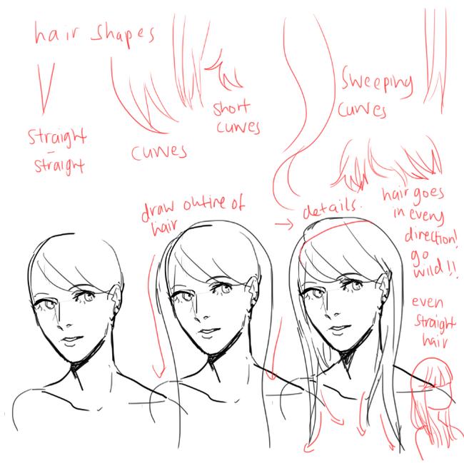 【教程】头发画到手发软?那是因为方法错了!看看正确的画法吧!