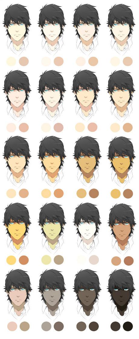有同学说不会配人物皮肤的颜色!正好收集了组皮肤调色盘给大家参考哦!
