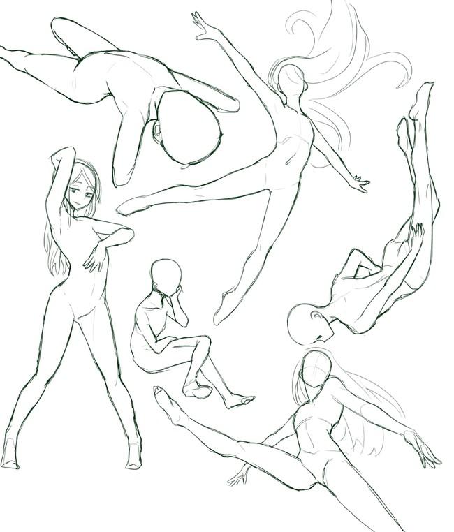 必须收藏系列!女性人体姿势素材教程!女性人体的秘密就在这里!