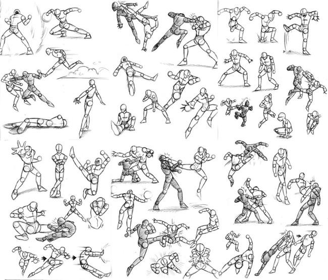 【推荐】人物动态绘制参考—动漫素材专区