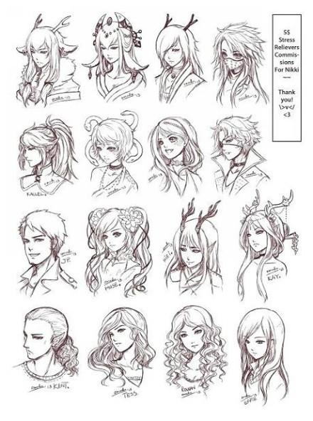 【推荐】动漫少女头发怎么画