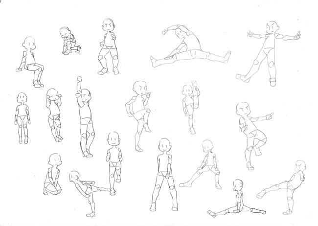 漫画教程图解第一期:Q版人物动态参考