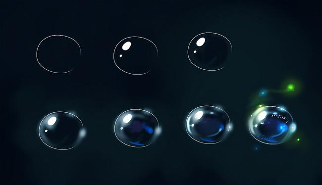 漫画教程图解第二期:宝石与水晶材质画法