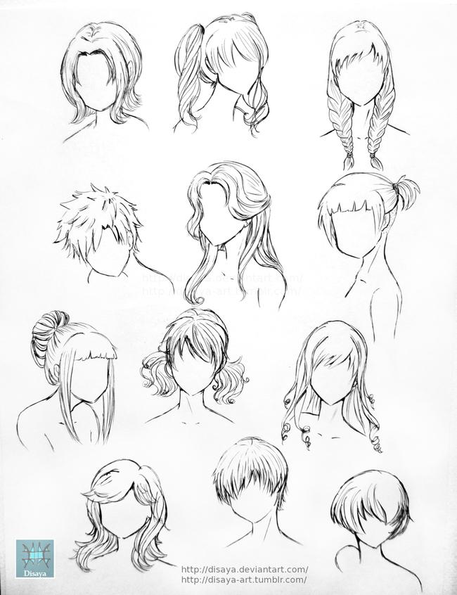 漫画教程图解第四期:人物头发的画法参考