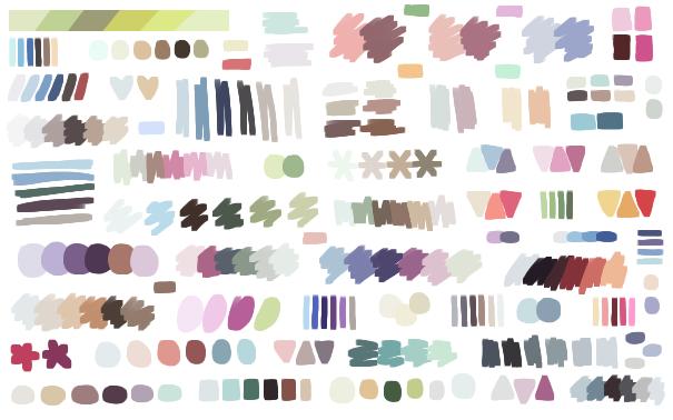 漫画教程图解第九期:绘画用配色调色盘