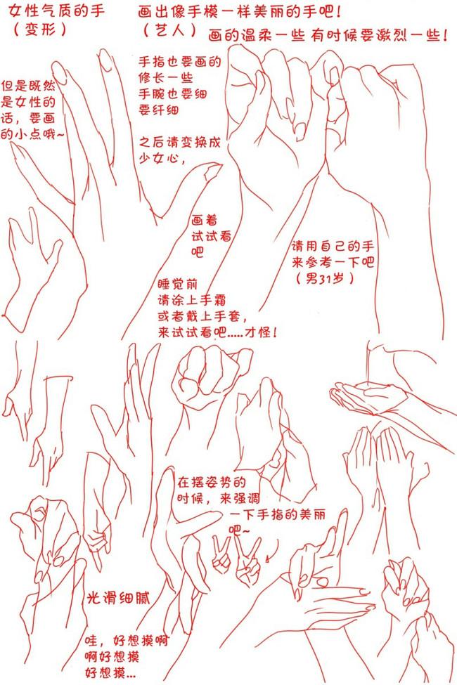 漫画教程图解第十期:女性绘制教程