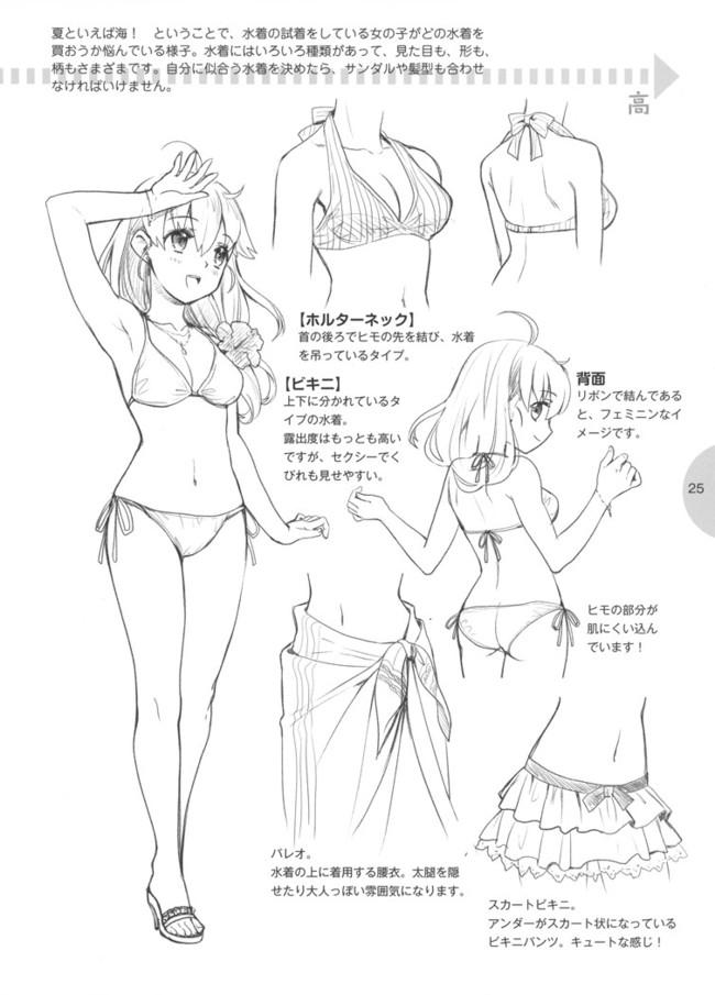 动漫少女服装的画法参考—轻微课图文素材