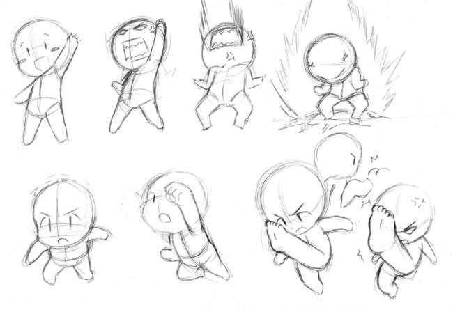 Q版人物姿势与动态画法—轻微课绘画素材