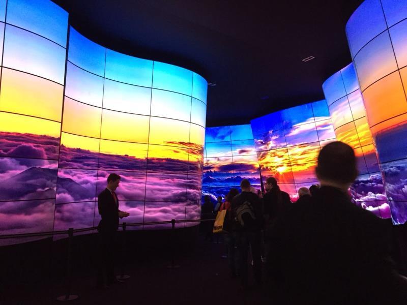 LG在CES上展示的OLED大峡谷
