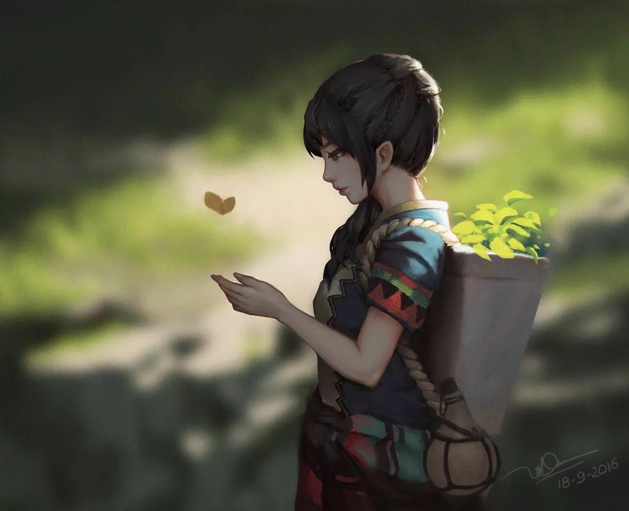 画风唯美,绘画内容很温情,让人一眼就记住的风格
