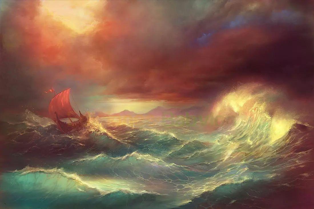 这样的色彩,不是每个画师都可以驾驭的!欣赏一下来自西班牙画师的作品!