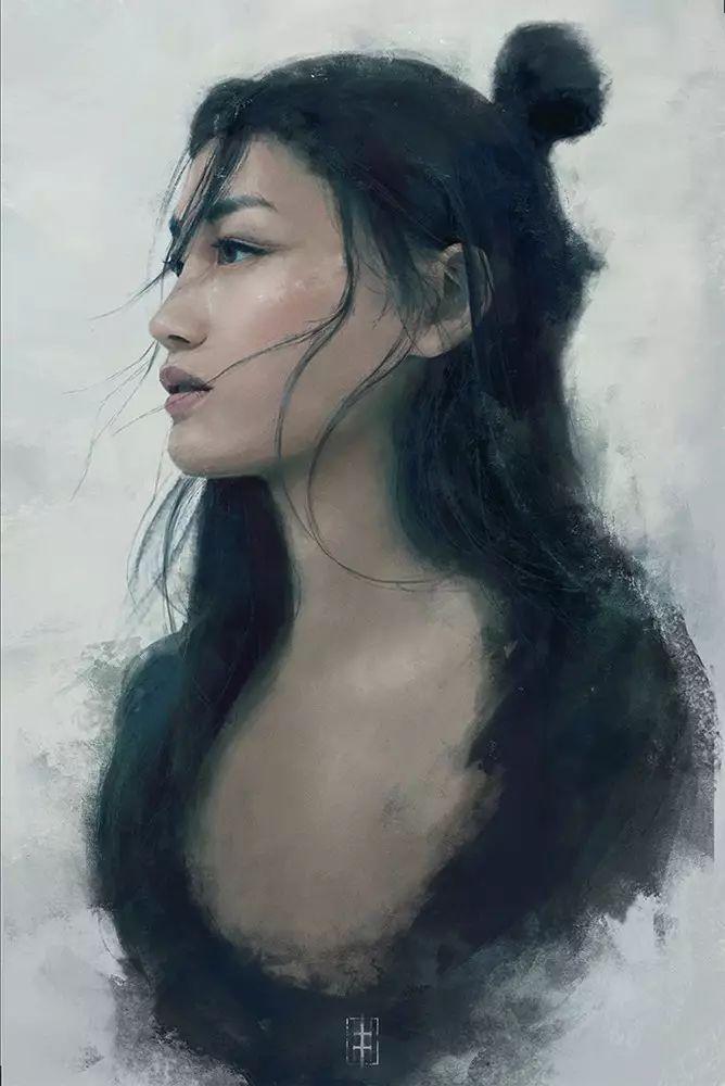 不一样的古典美,每张插画作品都透露着优雅的气质。
