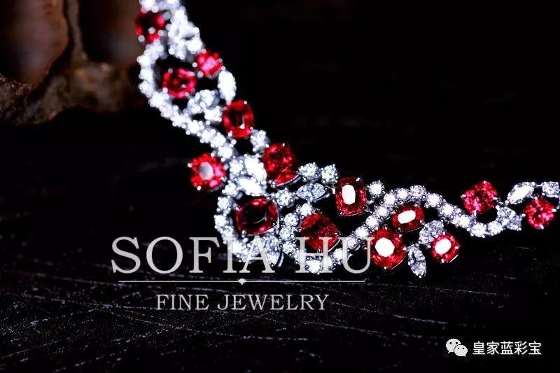【SOFIAHU高订珠宝】美丽的红尖晶项链