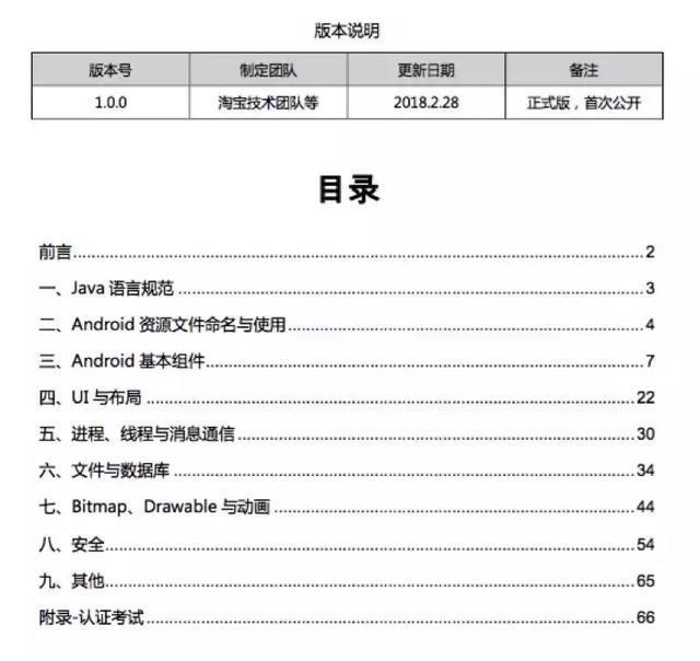 《阿里巴巴Android开发手册》(全文)