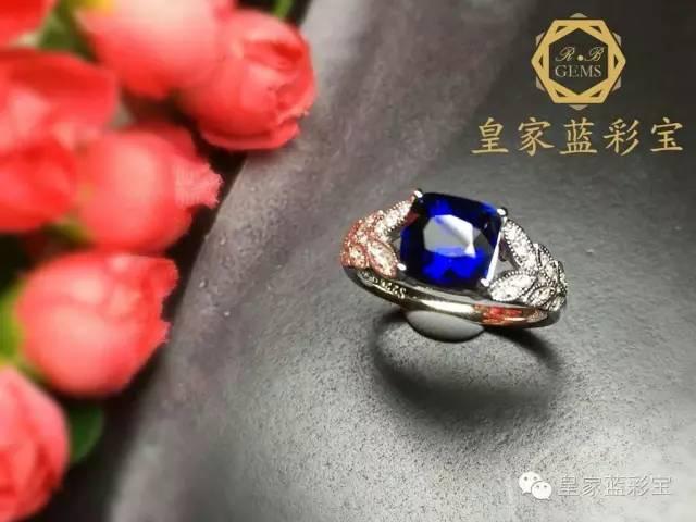 【皇家蓝彩宝・高级定制】唯美的橄榄枝造型搭配深邃的皇家蓝,小清新