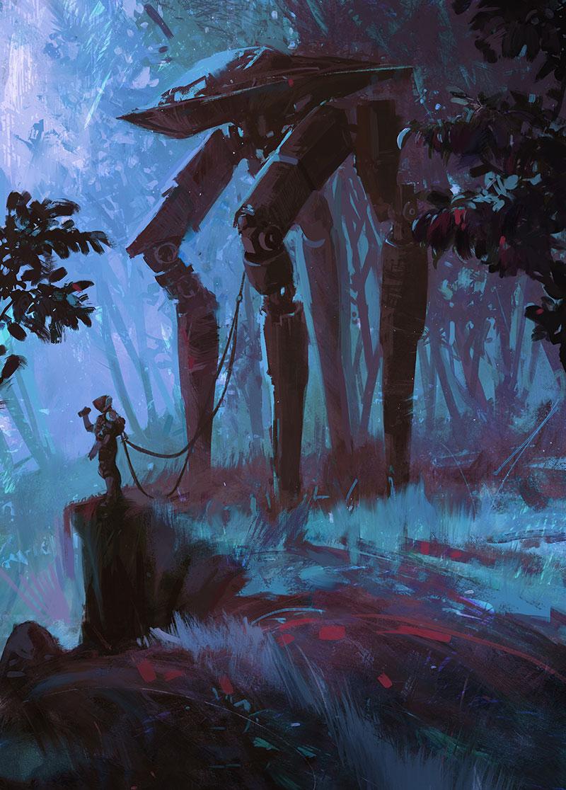 【推荐】科幻游戏场景原画教程—轻微课动漫游戏美术专区