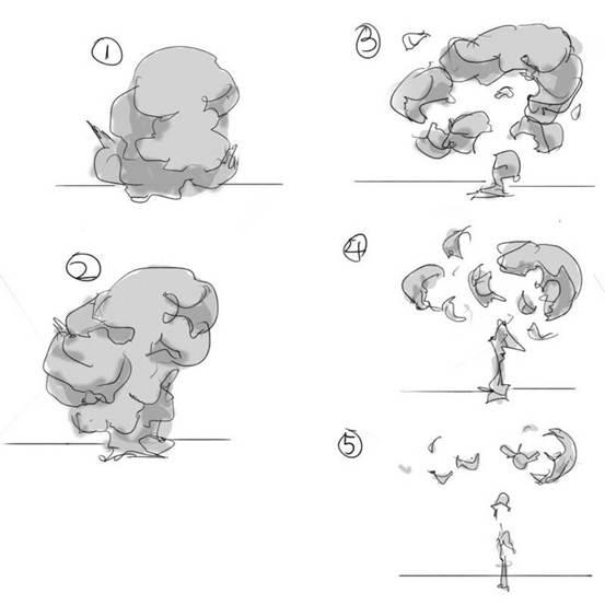 【推荐】烟雾的画法,教你怎么画烟雾—轻微课自学绘画教程区