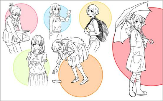 【推荐】动漫人物立绘学习教程—轻微课漫画插画在线学习