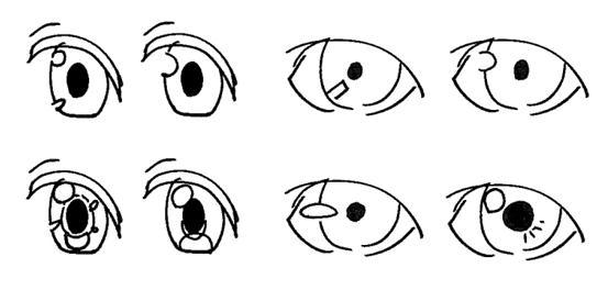 日系漫画人物眼睛画法汇总—轻微课精品绘画教程区
