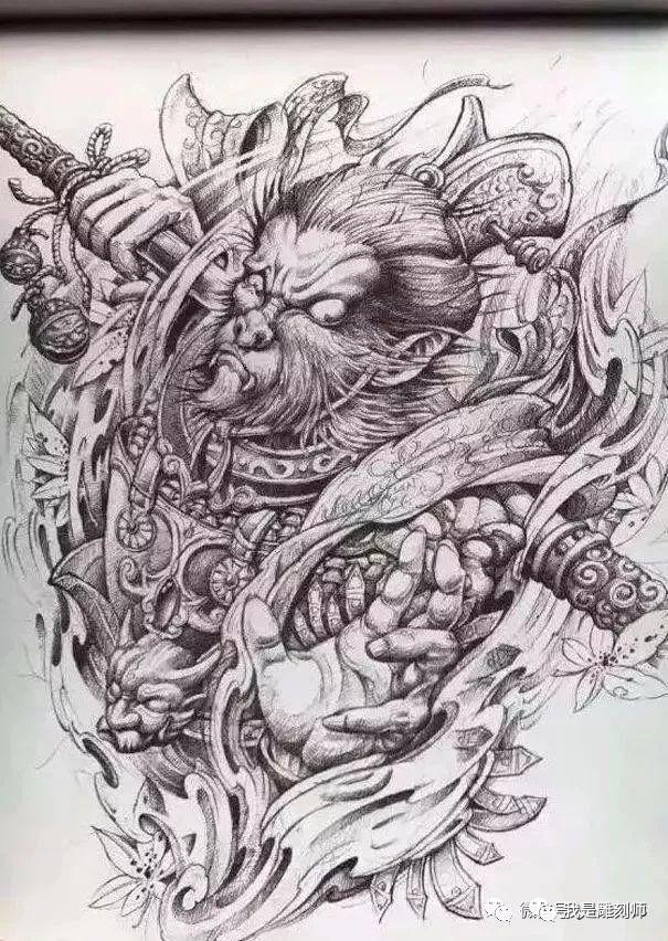超级霸气的孙悟空雕刻手稿素材,不要错过了