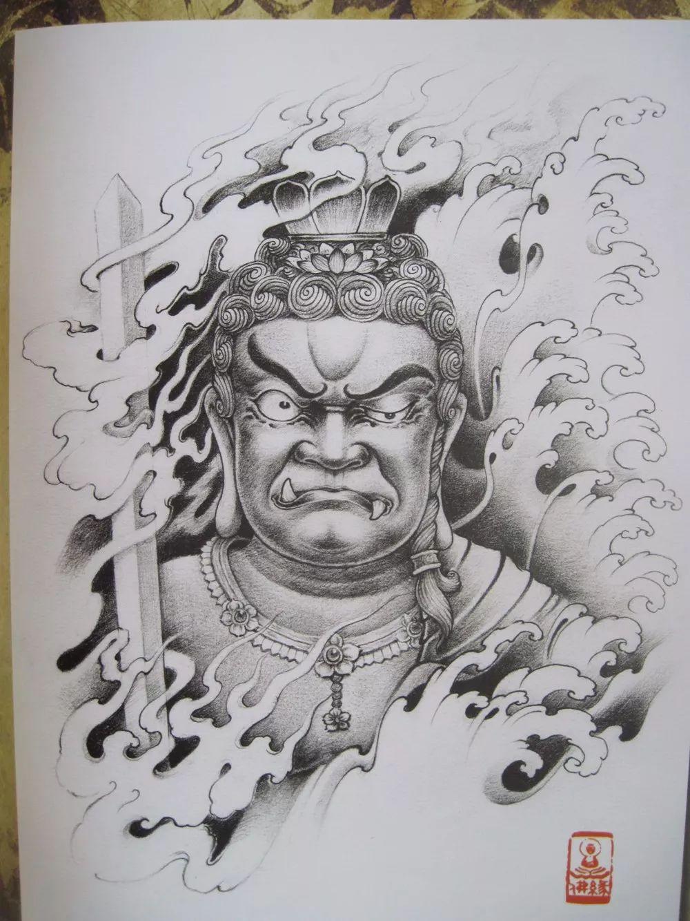 我是雕刻师,佛像雕刻纹身素描素材手稿楚雄学室内设计图片