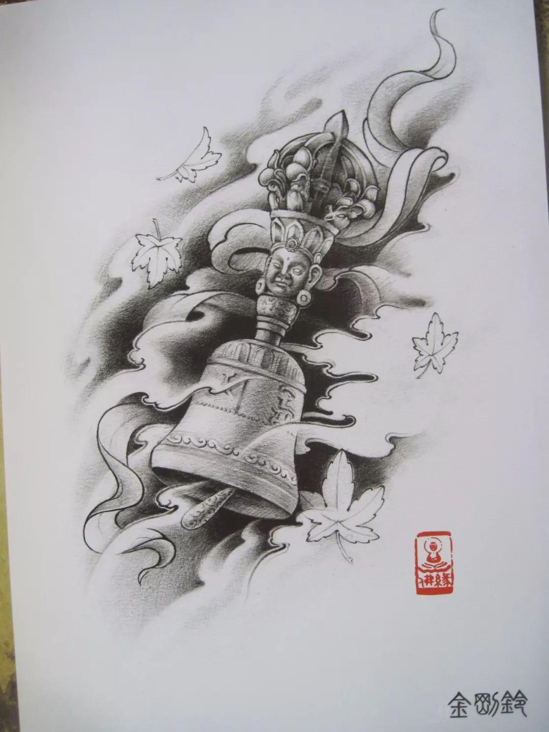 我是雕刻师,素描雕刻纹身手稿
