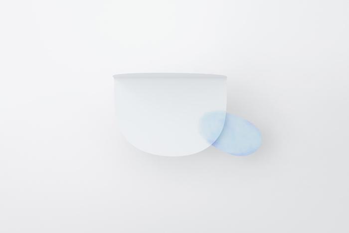 "nendo 用水彩浸润的""纸张""折出了这个夏天最清凉的风景"
