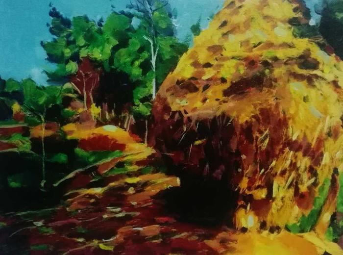 画家周川最新《乡野情趣》作品
