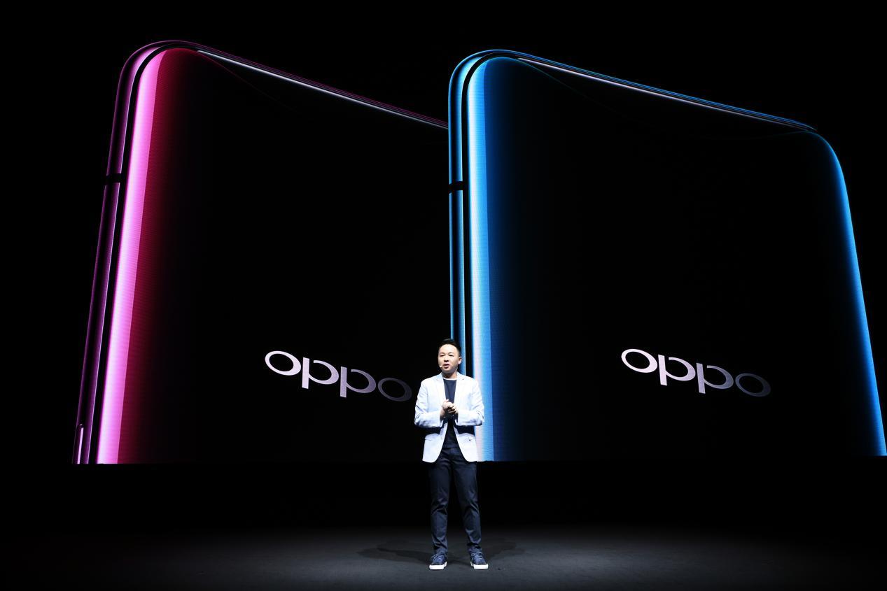 OPPO Find X产品颜色:波尔多红,冰珀蓝