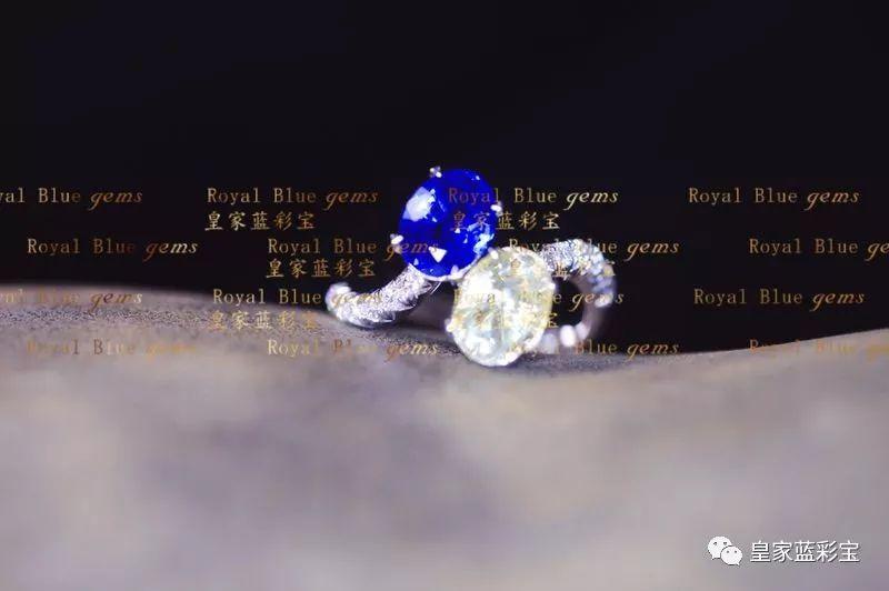 【皇家蓝彩宝.高级定制】别致经典的双石戒,大气而优雅