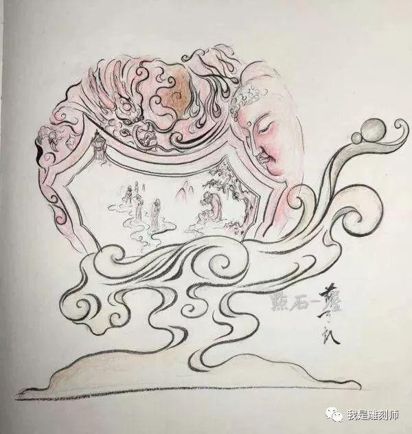 我是雕刻师,纯案例雕刻手工纹身人物素描画稿包装设计素材是指什么图片