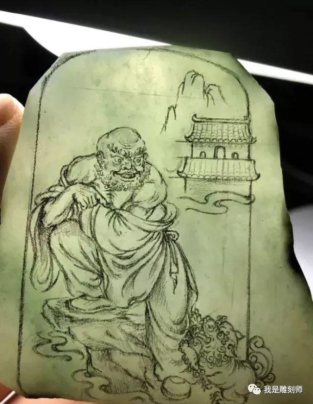我是雕刻师,纯手工绘画素描玉雕设计作品素材大全欣赏