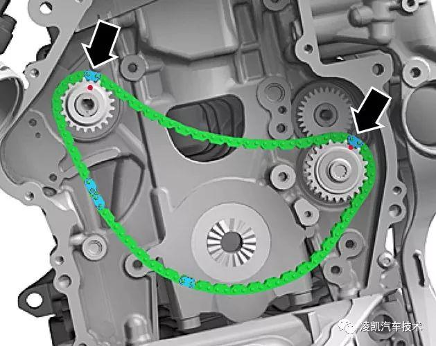 EA888发动机正时链条安装 对正时 操作要点