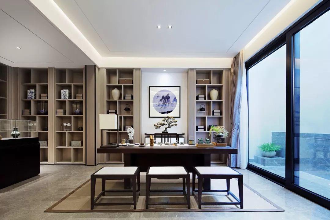 130三室两厅禅意新中式装修效果图,留白也是一种美
