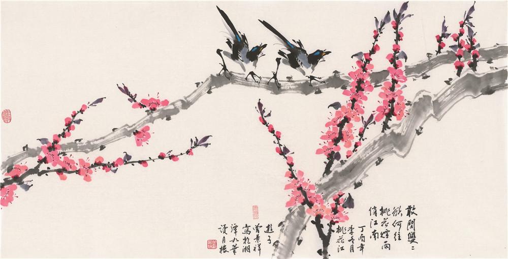 著名画家曾景祥花鸟画艺术