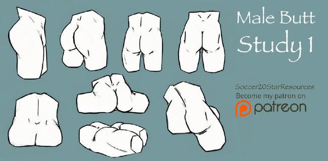 屁股怎么画?男女臀部的画法—免费漫画学习区