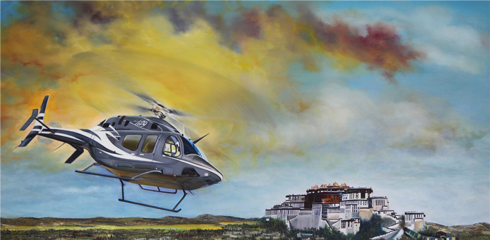 油画名家宫浩钦笔下的航空艺术