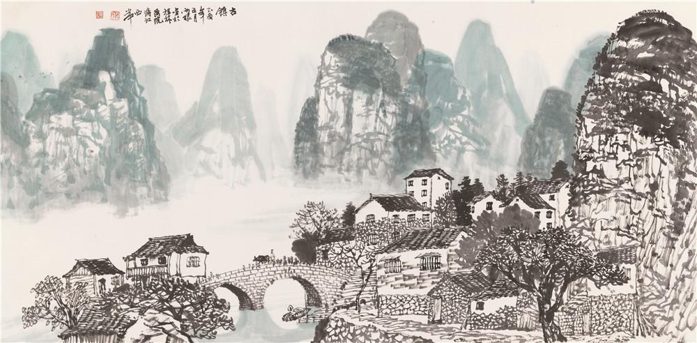 山水情深融笔墨:著名画家莫雨根作品鉴赏