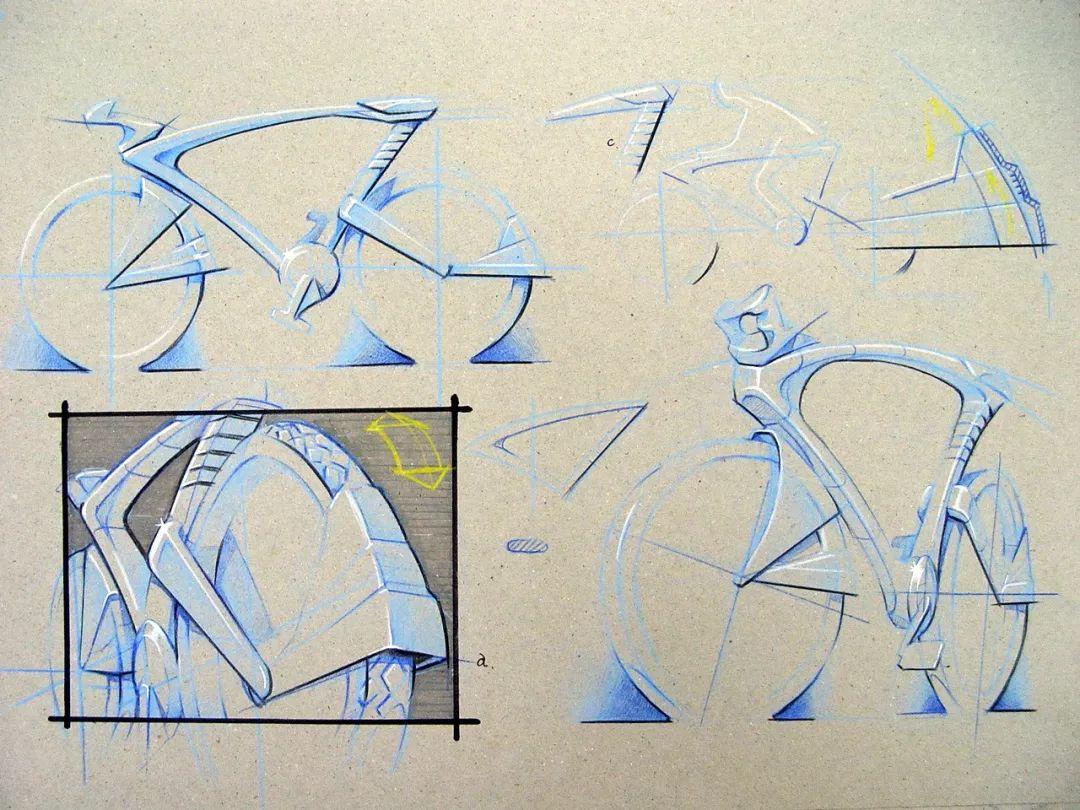"""""""无人机""""手绘草图,是这样诞生的 手绘底色高光法——利用底色亮部高光"""