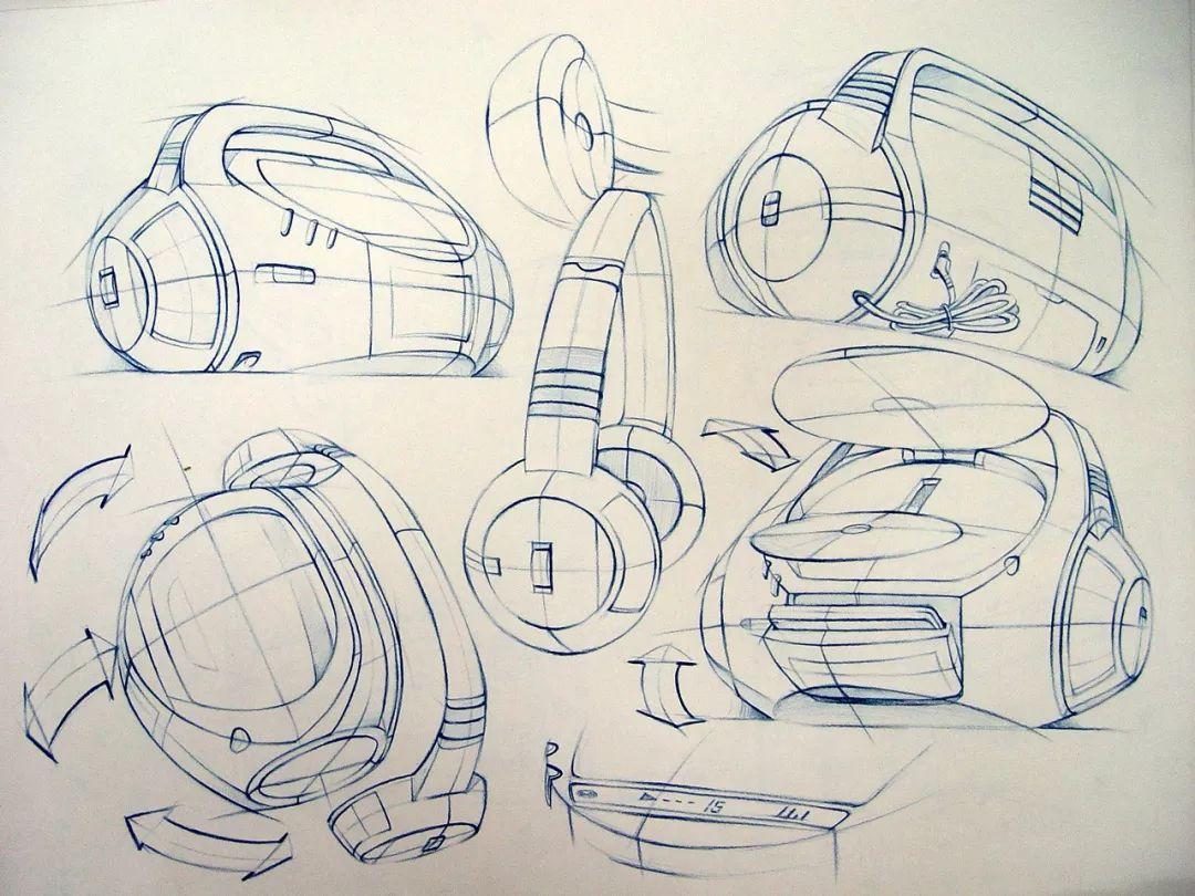 """""""无人机""""手绘草图,是这样诞生的 手绘底色高光法——利用底色亮部高"""