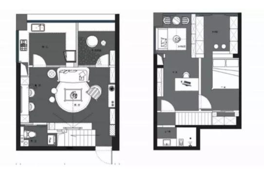武汉94㎡小复式楼装修