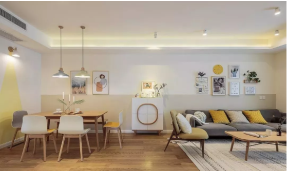 武汉100㎡三室两厅北欧风装修效果