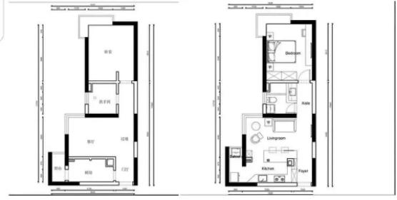 37㎡小户型旧房翻新改造图