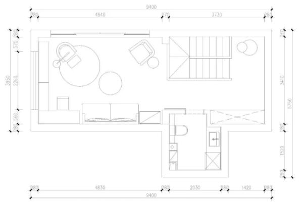 清新北欧风139平小户型旧房跃层装修