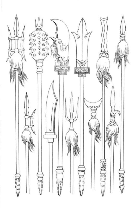 古代兵器简笔画