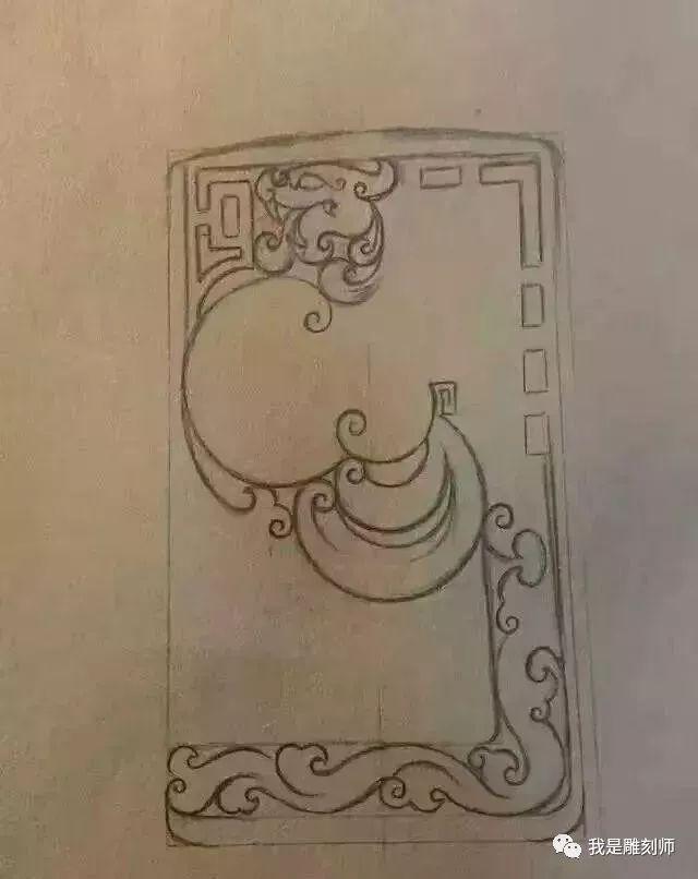 我是雕刻师素材篇|玉雕仿古设计手稿