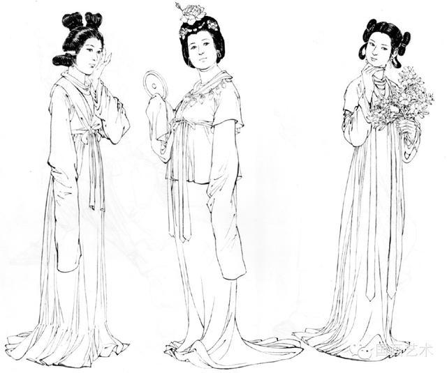 唐皇宫简笔画