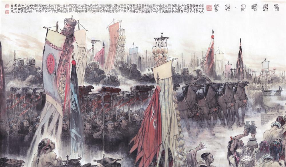 孙恩道巨制《商汤崛起·汤誓》:构筑史诗般宏阔而悲壮的历史画面